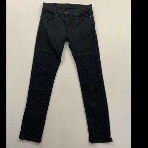 Levi's 511 Men's Black Slim Fit Jeans Size 33x34